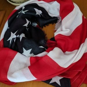 Large American Flag scarf